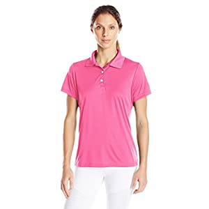 Hanes Sport Women's Cool DRI Performance Polo,Wow Pink,Large