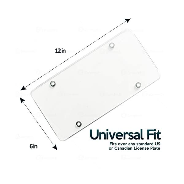Zone-Tech-Clear-Unbreakable-License-Plate
