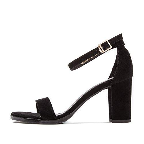 Fuite Chaussures Talon Sandales Boucle Orteil Femme Couleur Chaud unie L'Air Élégance Mot Seul Dame Haut SHOESHAOGE UzqvCYY