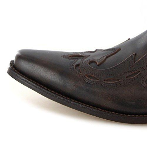 Manchado Escorpio Manchado Lederstiefelette Old MB021 für FINEO Herren Boots Braun Mayura qapwRR