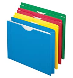 Pendaflex Color Reinforced File Jacket, 2-Inch Expanding Jacket, Letter Size, Assorted Colors, 8 Pack (12003EE)