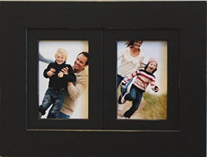 Amazon 2 Opening 4x6 Black Wood Collage Picture Frame Multi