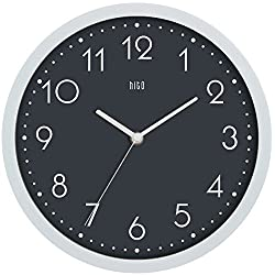HITO Modern Colorful Silent Non-ticking Wall Clock- 10 Inches (Gray#3)