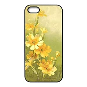 Cool Painting Vintage Flower Watercolor Personalized Cover Case for Iphone 5,5S,customized phone case case586617
