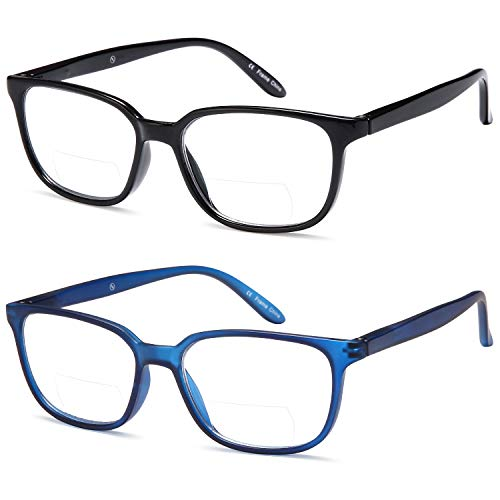 c3b66cf0824b ALTEC Vision Pack of 2 Classic Style Bifocal Readers Spring Hinge Reading  Glasses – 2.00x