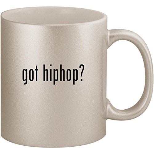 got hiphop? - 11oz Ceramic Coffee Mug Cup, Silver (Glam Metallic Belt)