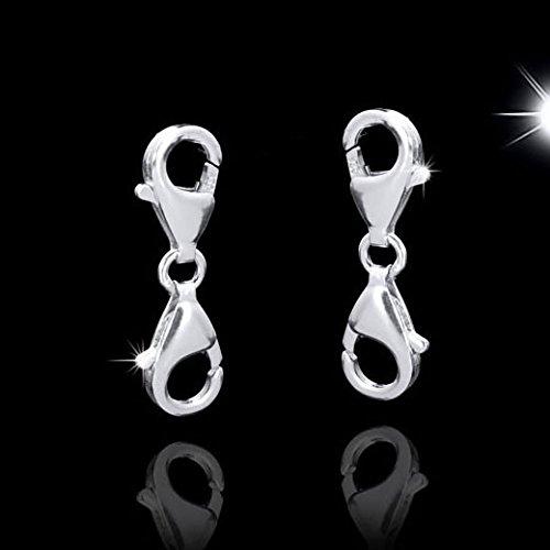 15a4671ef435 MATERIA 925 plata de ley cierre mosquetón doble para cambiar para pulseras  cadenas  1545  Amazon.es  Joyería