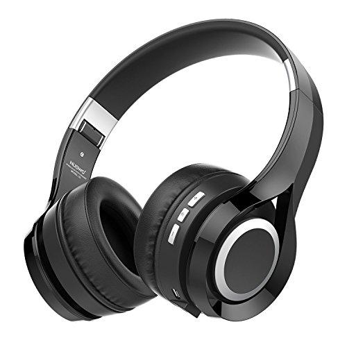 Kopfhörer, NUBWO S1 Bluetooth 4.1 On-ear Deep Bass Hi-Fi Stereo Faltbares Multifunktionelles Headset Handfree mit Mikrofon Unterstützen TF Karte Kompatibel mit Smartphone/Tablet/PC/Smart TV(Schwarz)