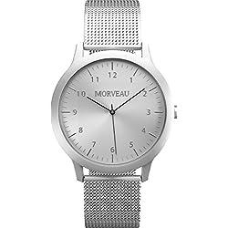 Morveau Men Refined Jetsetter Minimalist Watches - Luxury Watch Made from Aircraft Grade Aluminum