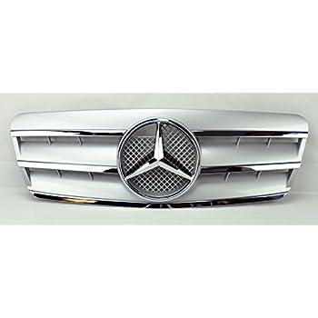 Amazon Com 98 02 W208 Mercedes Clk Class Silver 3 Fin Sport Front