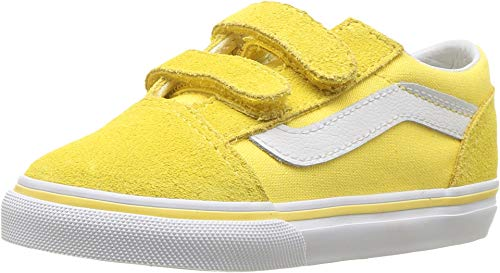Vans Kids Baby Girl's Old Skool V (Toddler) Aspend Gold/True White 7 M US Toddler ()