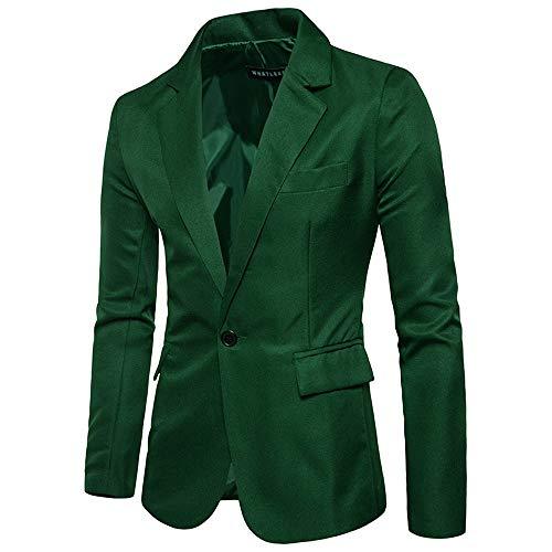 Roiper Blazer Homme Costume Manteau Hiver Velours Armée Casual Slim Côtelé Longues Manches Verte Automne À Veste Top Petit rqS6xOrt