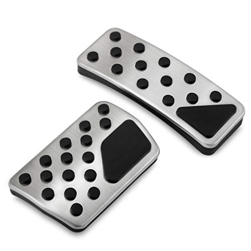 Non-Slip Performance Foot Pedal Pads,Auto Aluminum Pedal Covers fit Jeep Grand Cherokee Dodge Durango 2011-2019