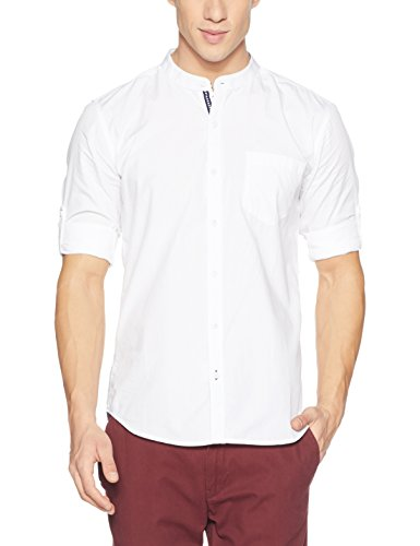 Highlander Men #39;s Solid Slim Fit Casual Shirt