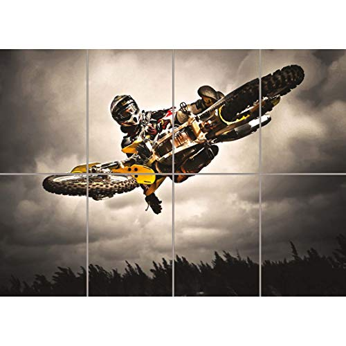 MOTOCROSS BIKE JUMP FREESTYLE NEW GIANT WALL ART PRINT PICTURE POSTER OZ341 (Motocross Poster)