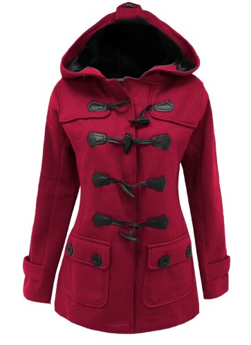 20 SIZE LADIES Floss JACKET Candy FLEECE STYLE TOGGLE COAT DUFFLE Fuchsia 8 xTv8wqw