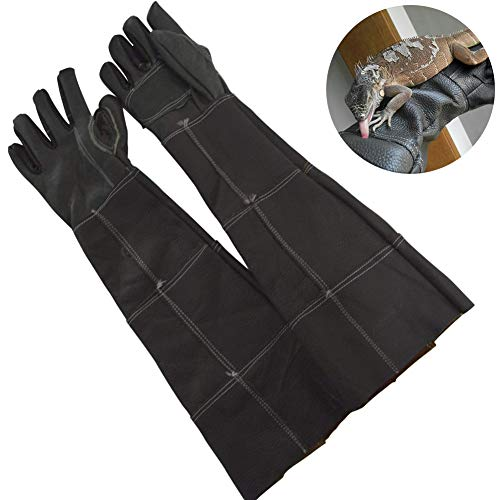 TINTON LIFE Anti-Scratch Bite-Proof Gloves for Dog Cat Snake Bird Lizard Squirrel Hand Arm Finger Protection Gloves