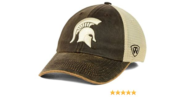 quality design d749c 8f0ef Amazon.com   Top of the World Michigan State Spartans Brown Scat Mesh  Adjust Snap Hat Cap   Sports   Outdoors
