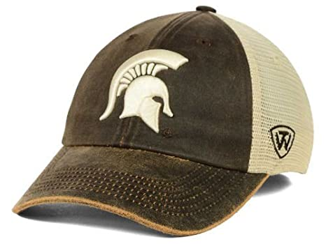 online retailer d3f65 0788f Image Unavailable. Image not available for. Color  Top of the World  Michigan State Spartans Brown Scat Mesh Adjust Snap Hat Cap