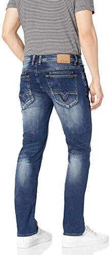Buffalo David Bitton Men's Ash-x Slim Fit Denim Jean, Indigo, 38x30