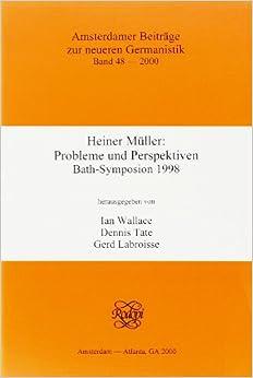 Book Heiner Müller (Amsterdamer Beiträge Zur Neueren Germanistik)