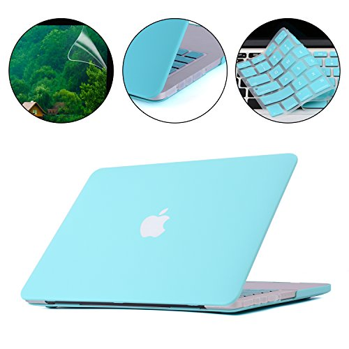 Applefuns(TM) Matte Hard Shell Case + Keyboard Cover + Screen Protector + Dust Plug for Macbook Pro 15