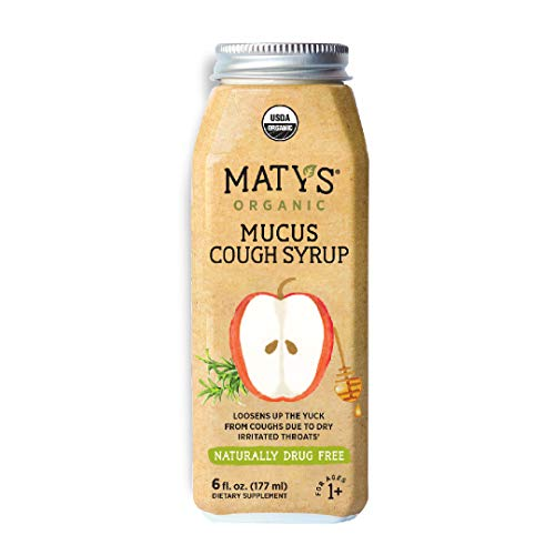 Maty's Organic Mucus Cough Syrup, 6 fl oz, With
