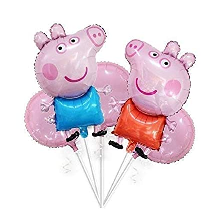 Amazon Com Large 32 George Pig Peppa Pig Balloons Bouquet 5 Pcs