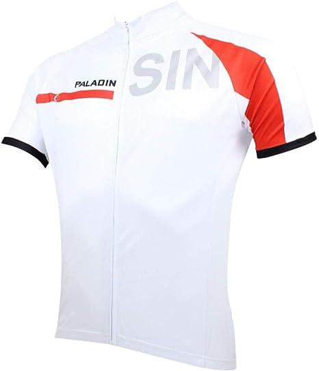 Maillot Ciclismo Deportes y Aire Libre Franja blanca camisa de manga corta a rayas rojas camisa