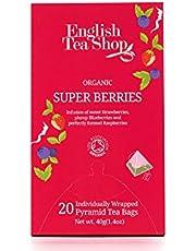 English Tea Shop Organic Super Berries, Pyramid Sachets, 40g