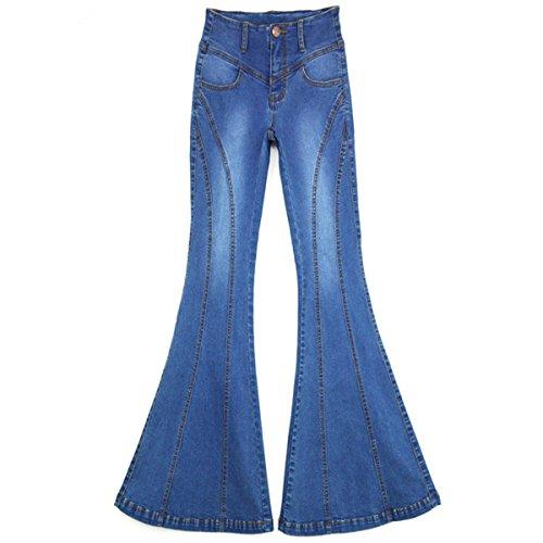 Campana Jeans Ragazze Elastica Pantaloni Profitd A Grandi Dimensioni Di Blue Flare Stretching Donna Zampa Per X8dFq