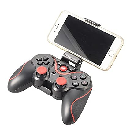 Xcsource Bluetooth Controlador De Juegos Inalambrico Gamepad Joystick Para Android Pc Ps3 Vr Tablet Smart Tv Tv Box Negro Rojo Ac430