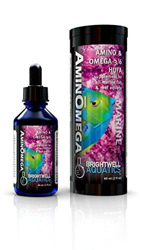 Brightwell Aquatics AminOmega 3/6 HUFA Supplement for All Marine Fish and Reef Aquaria, 125ml
