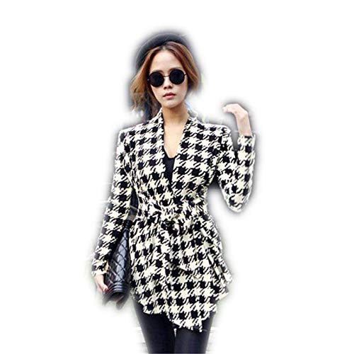 0a89ece8b80 Amazon.com  VANSOON Womens Tops Cardigans Korean Womens Houndstooth ...