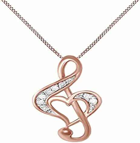 14K White Gold Plated Simulated Excellent Cut Blue /& White CZ Diamond Classic Heart Pendant With 18 Box Chain Silverraj Jewels Heart Pendant Collection