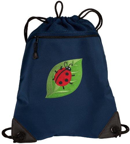 - BROAD BAY Ladybugs Drawstring Backpack Ladybug Cinch Bag - UNIQUE MESH & MICROFI