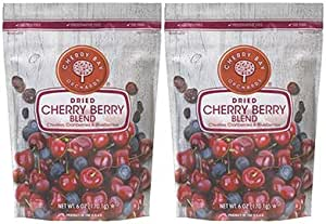 Cherry Bay Orchards - Dried Mixed Fruit Blend (Cherries, Blueberries, Cranberries) - Two 6oz Bags - 100% Domestic, Natural, Kosher Certified, Gluten-Free, and GMO Free - Packed in a Resealable Pouch