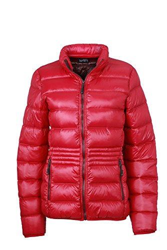 JN1063 Ladies' Winter Down Jacket Leichte Daunenjacke mit Stehkragen in sportlichem Style, Größe:M;Farbe:Azur-Yellow