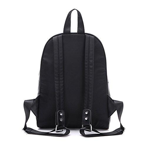 mochila/Bolso de verano/Mochila de viaje/Caracteres de graffiti/Nylon con mochila impermeable de cuero-A A