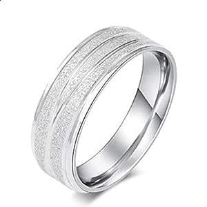 Tungsten Ring for Men Women Beveled Edge Matte Silver Wedding Band