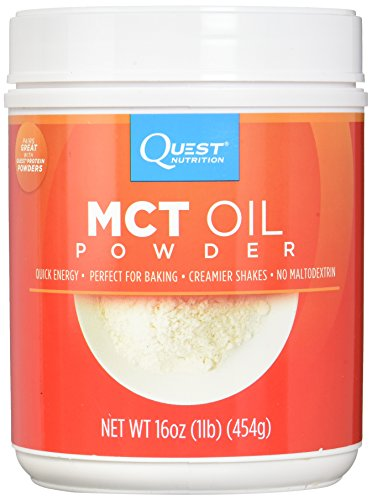 Quest Nutrition MCT Powder Oil, 0g Net Carbs, 0g Sugar, No Additives, 1lb Tub