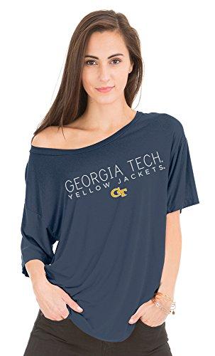 NCAA Georgia Tech Yellow Jackets Women's Aimee Oversized Modal Tee, Small/Medium, Navy