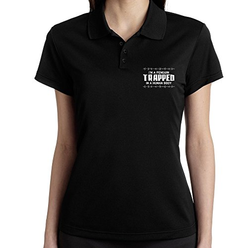 Teeburon I AM Penguin TRAPPED IN A HUMAN BODY Polo Donna