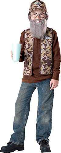 Boys Duck Dynasty Uncle Si Kids Costume Small 6 Boys ()