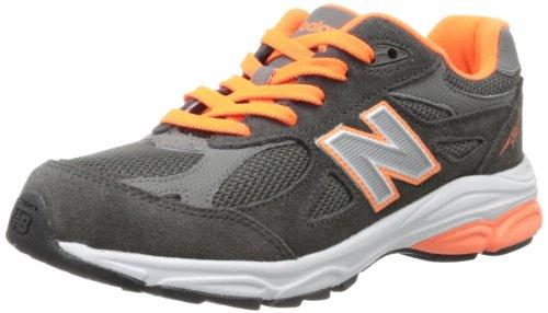New Balance KJ990 Grade Running Shoe (Big Kid),Grey/Orange,6 M US Big Kid