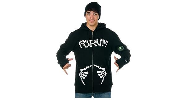 FORUM Shaka - Chaqueta con capucha y cremallera para hombre Negro Black To The Future: Amazon.es: Ropa y accesorios