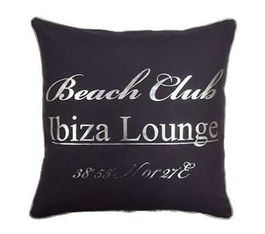 Vintage Kissen Ibiza Lounge Kissen Grau 50x50 Amazonde