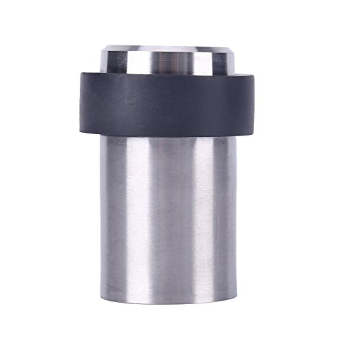 TPOHH SUS304 Brushed Stainless Steel Cylindrical Floor Mount Door Stop (2-3/8