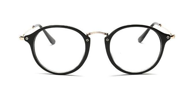Amazon.com: GAMT Round Hipster Glasses Clear Full Frame Eyeglasses ...