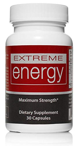 Extreme Energy Pills – Supercharge Your Energy Levels   100% Natural – All-Day Energy Pills – 30 Count   No Jitters or Crash Review